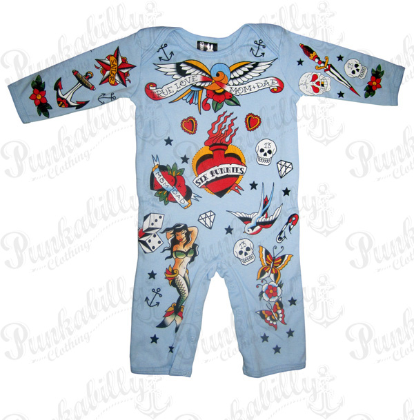 OLD SCHOOL TATTOO Baby Onesie