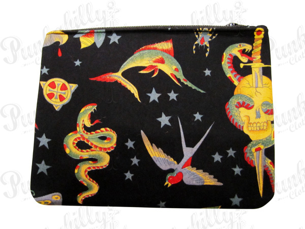 Black Tattoo design Rockabilly Pouch