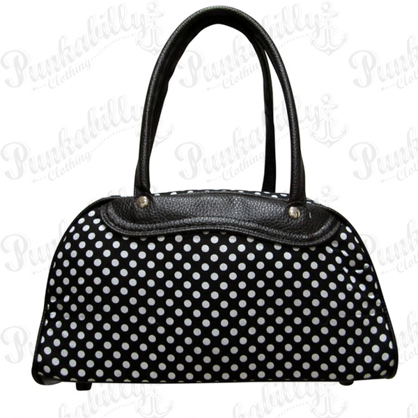 White Polka dots Rockabilly Bag