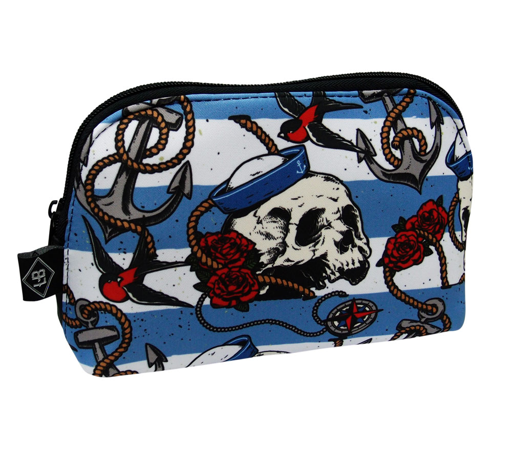 Nautical Skulls Liquor Brand Purse