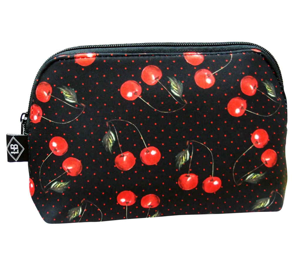 Cherries & Polka Dots Liquor Brand Purse