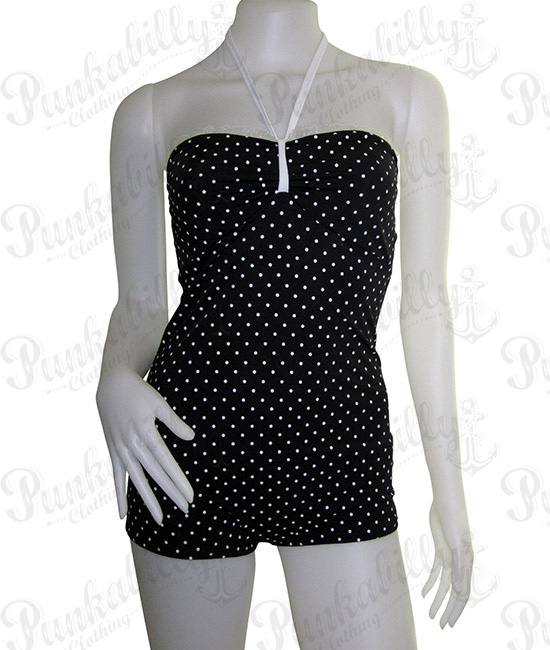 Polka Dots one piece Vintage Inspired Swimsuit