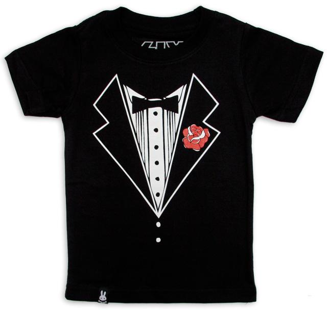 Tuxedo Style children T-shirt
