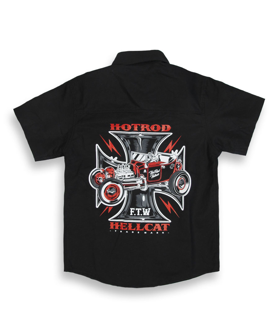 HOTROD HELLCAT Cross kids work shirt