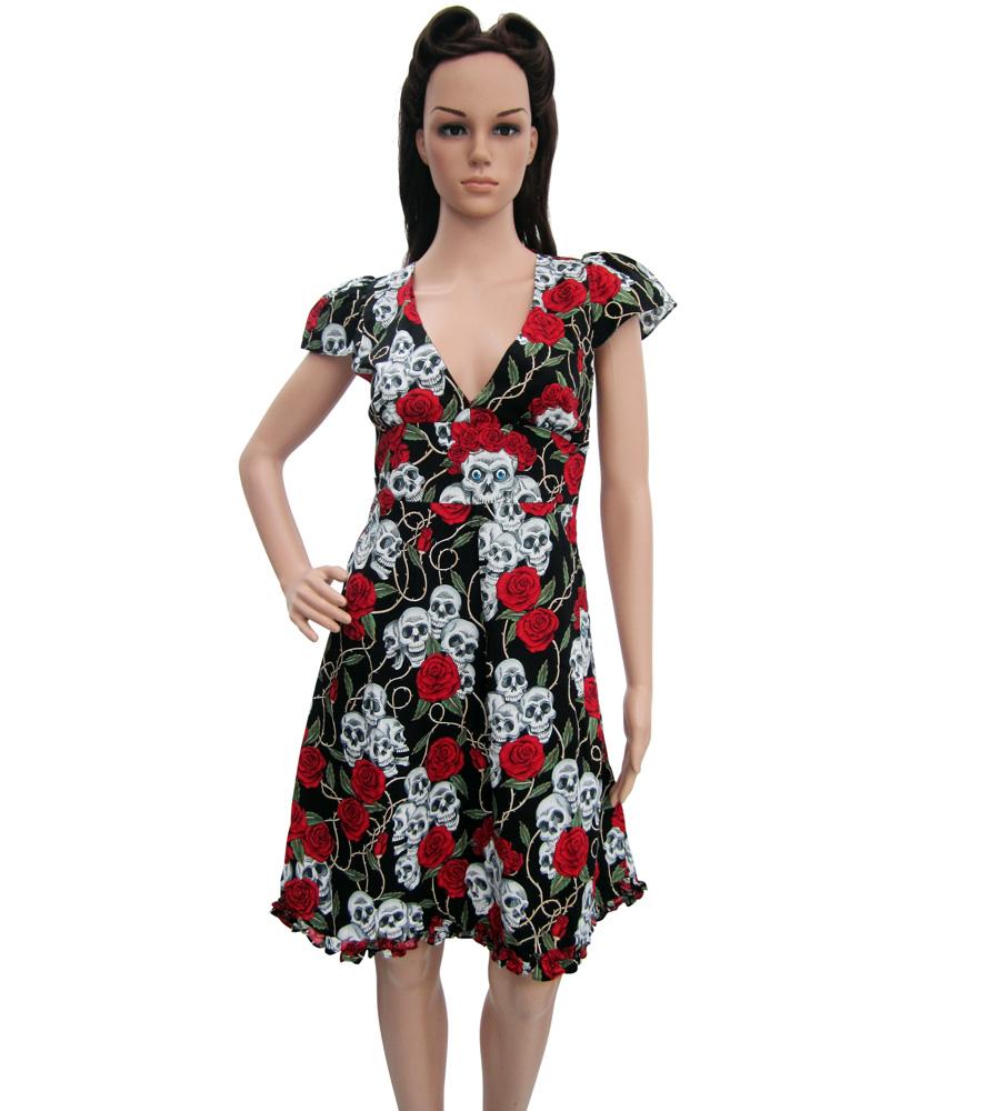 Skull & Roses Black Dress