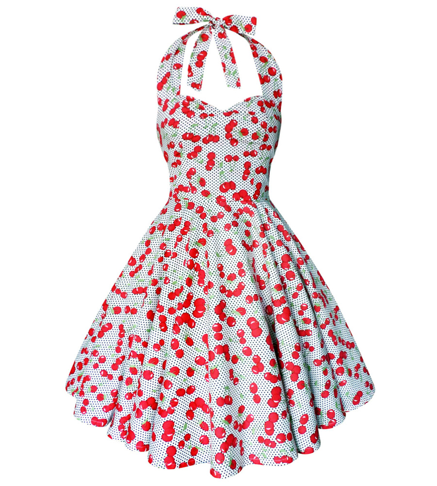 Polka Dots & Cherry white dress