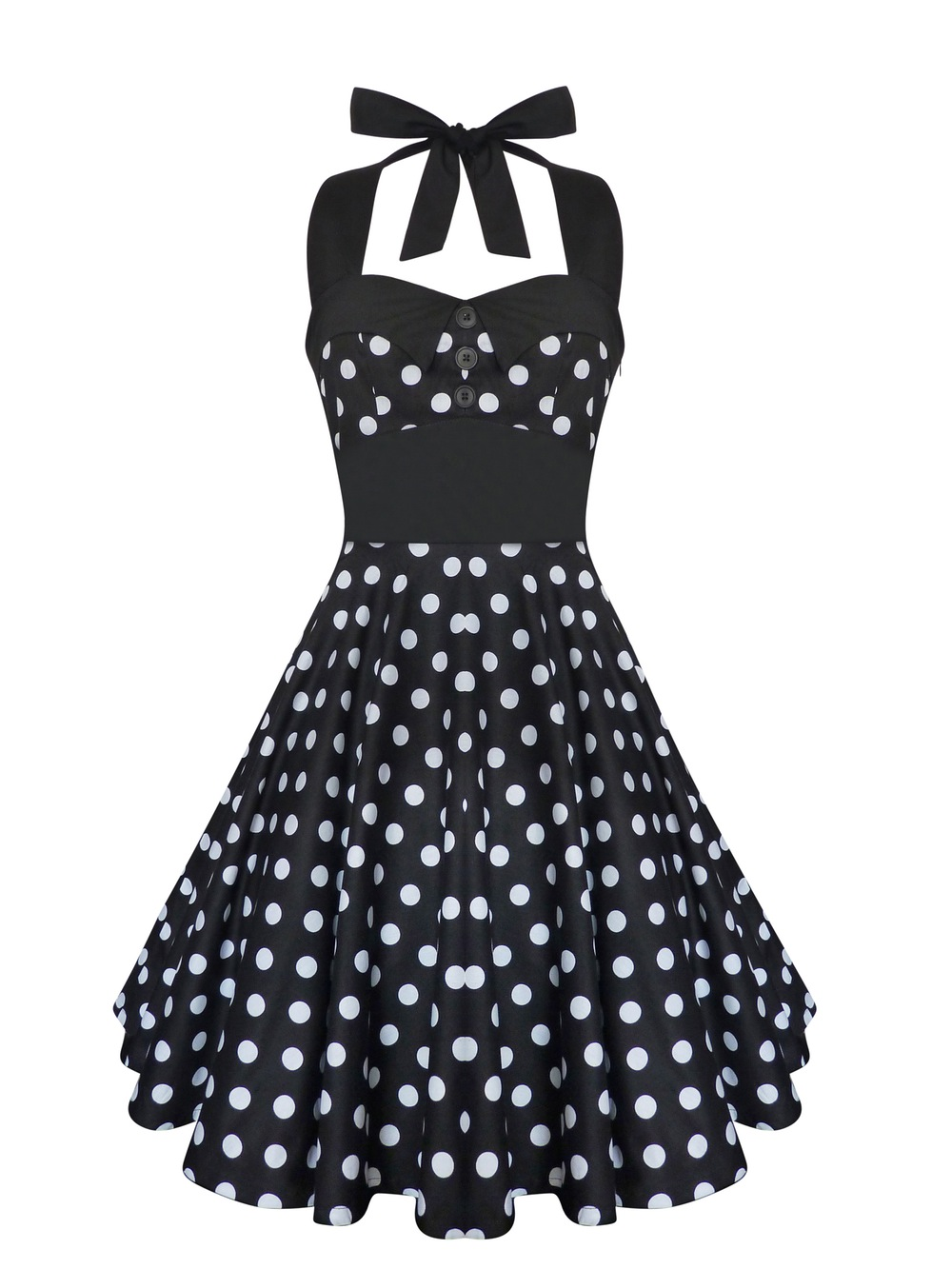 classic vintage inspired polka dots Dress