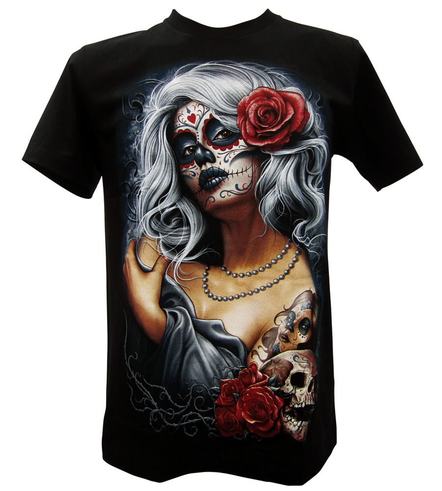 White Hair Tattoo Lady Men T-Shirt