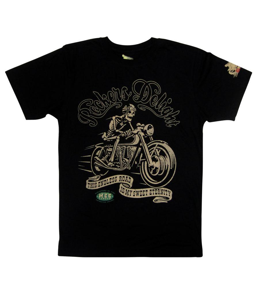 """Rocker Deligh"" Biker Skull T Shirt"