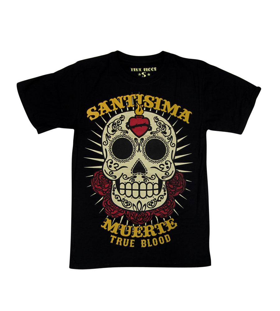 """""""SANTISIMA MUERTE"""" Skull Men T Shirt"""