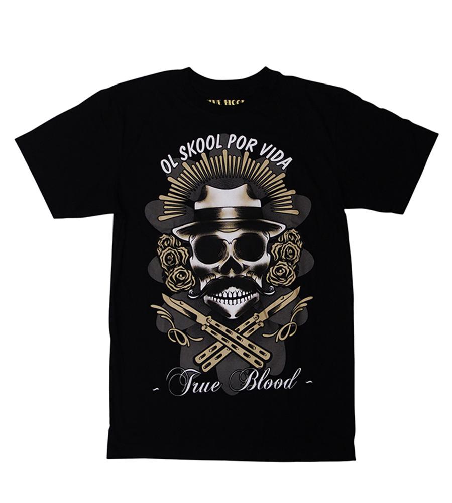 """Ol Skool Por Vida"" Man T-Shirt"