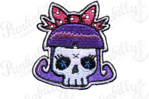 Pink Ribbon Skull Girl patch