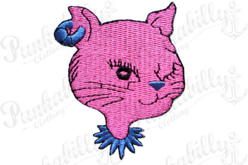 Pink Cat Punk Patch.