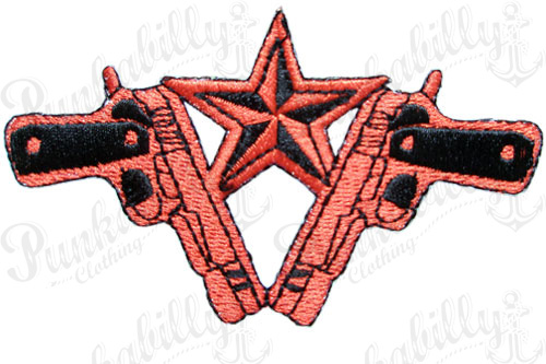 Nautical Star with Guns Patch.