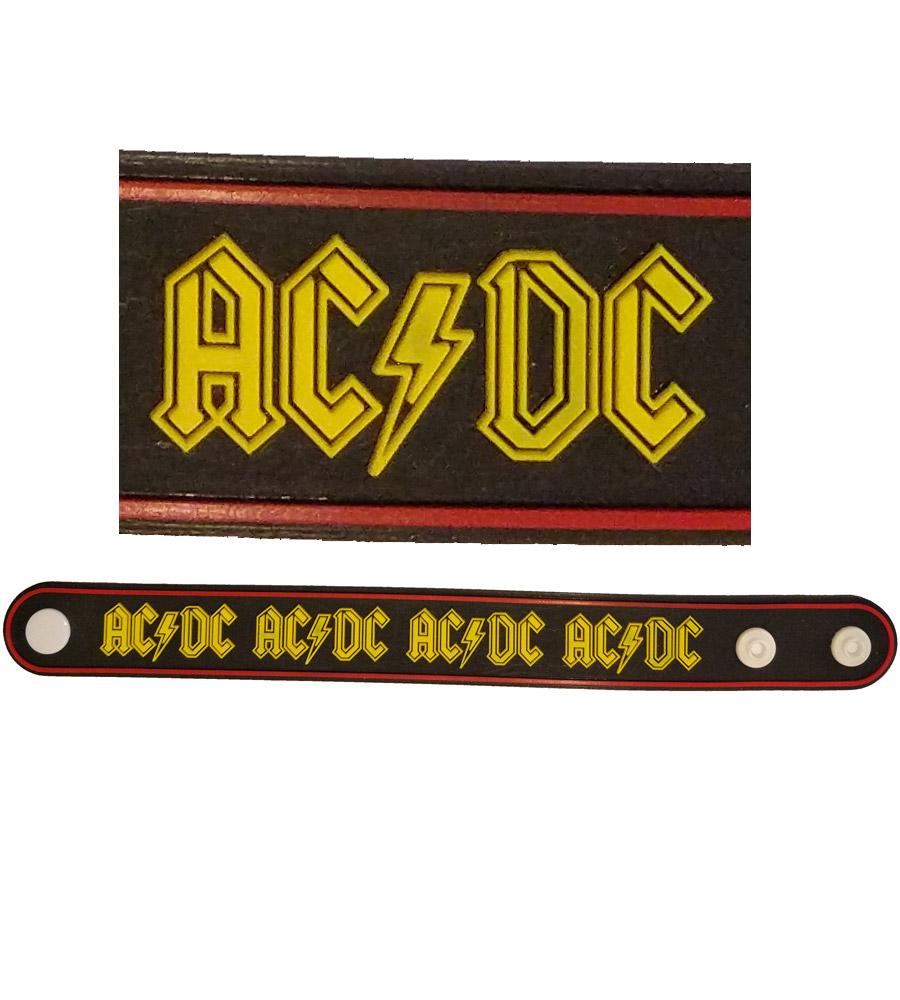 AC DC Rubber Bracelet