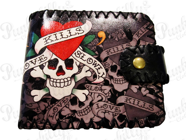 """Love Kills Slowly"" Punk Rockabilly Wallet"