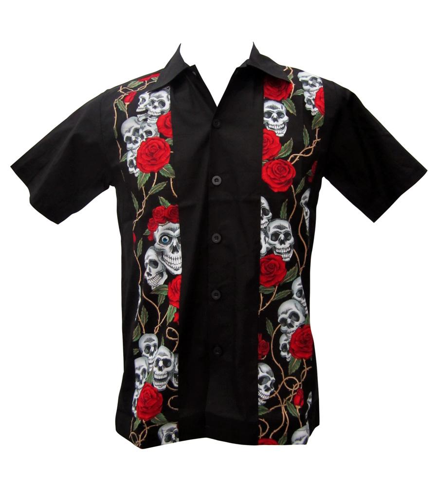 Skulls & Roses Work Shirt