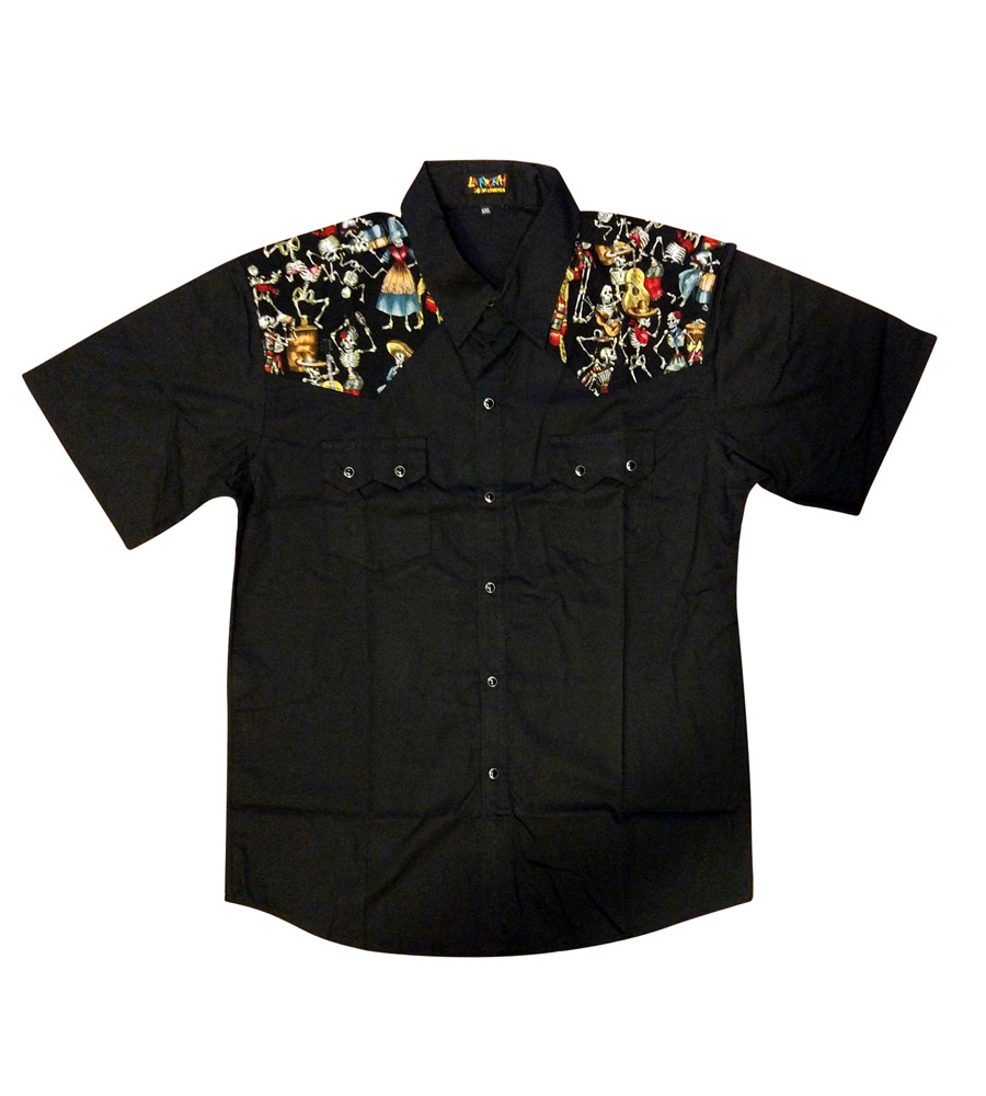 Mexican Skulls Party Work Shirt