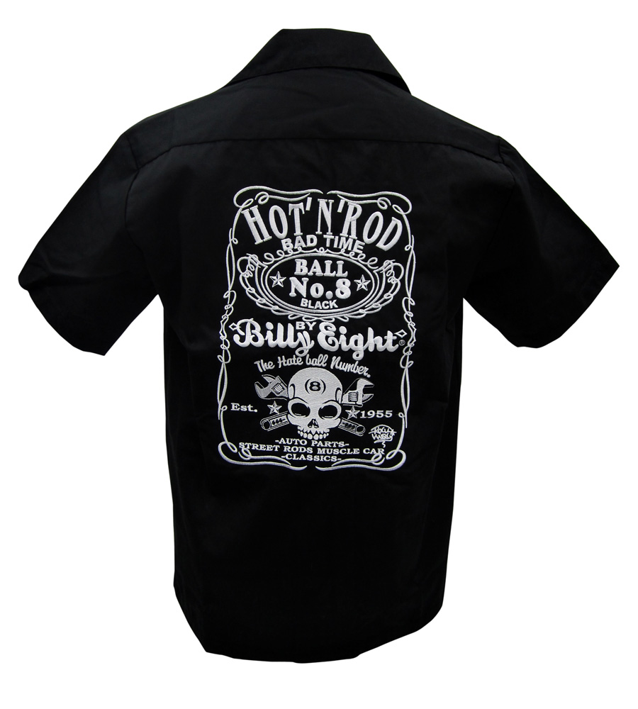 """HOT N ROD"" Embroidered Work Shirt"