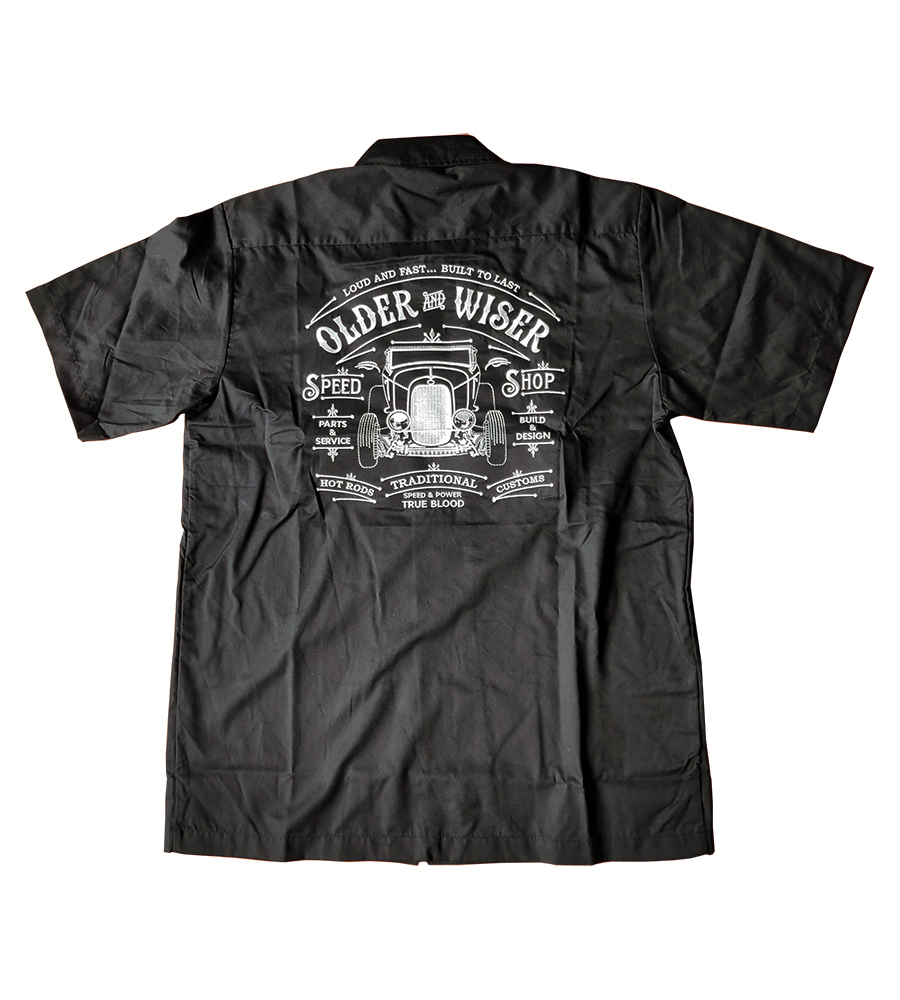 Older and Wiser Rockabilly Work Shirt