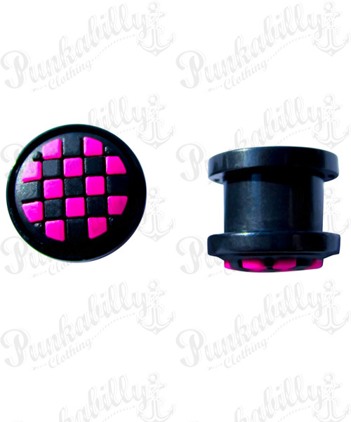 Pink & White Checker Rockabilly Plug