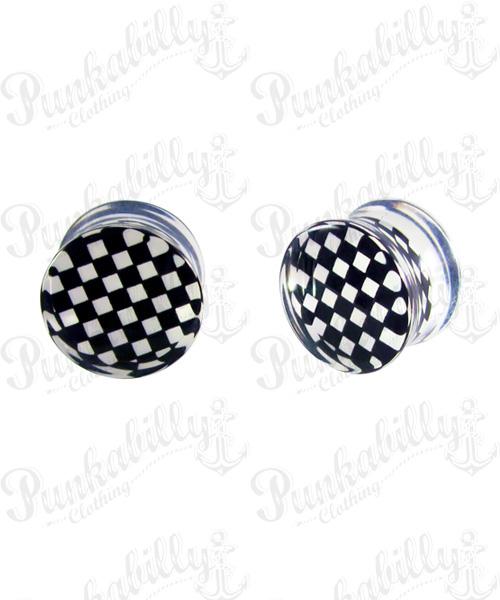 Black & White checker design plug