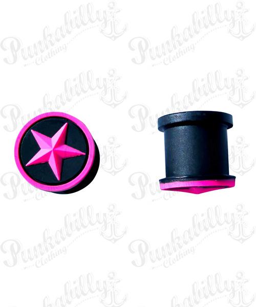 Pink Star Design Silicone Plug