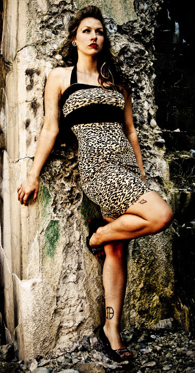 Pinup Girls Hot leopard dress