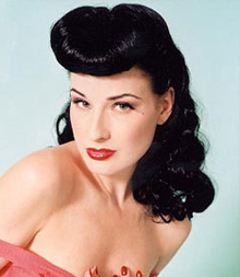 Pinup girls just love the shocking and bold hairstyles pin up hair