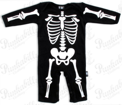Baby Clothes Skeleton Print Onesie