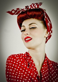 Pin up hairstyles: