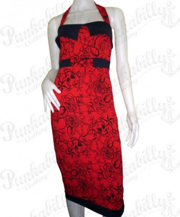 Rockabilly Rose Dress