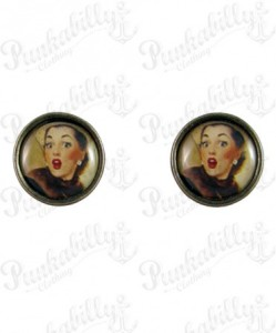 Pin up earrings