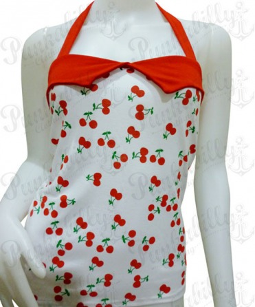 Rockabilly Spring Cherry Top