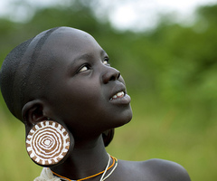 African tribal plug earrings