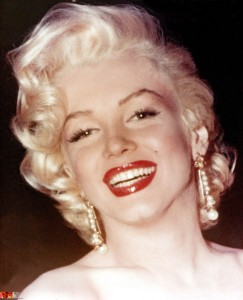 Marilyn's classic red pinup girl lipstick