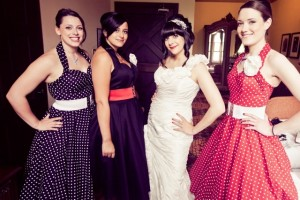 Rockabilly bridesmaids dresses