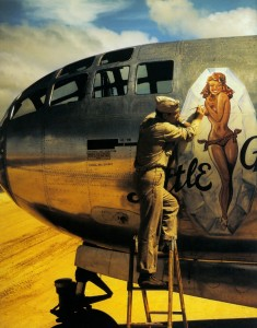 Vintage Nose Art Illustration