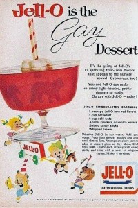 1950s foods made with J-E-L-L-O