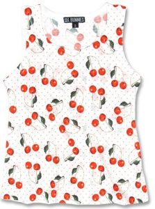Rockabilly Kids Clothes Little Girl's Cherry Polkadot Tank Top