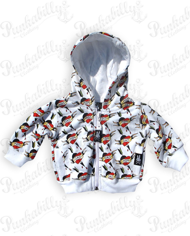MOM & DAD HEARTS Baby Jacket