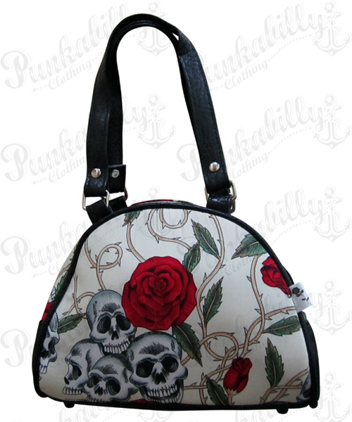 Skulls & Roses Mini Bowling Bag
