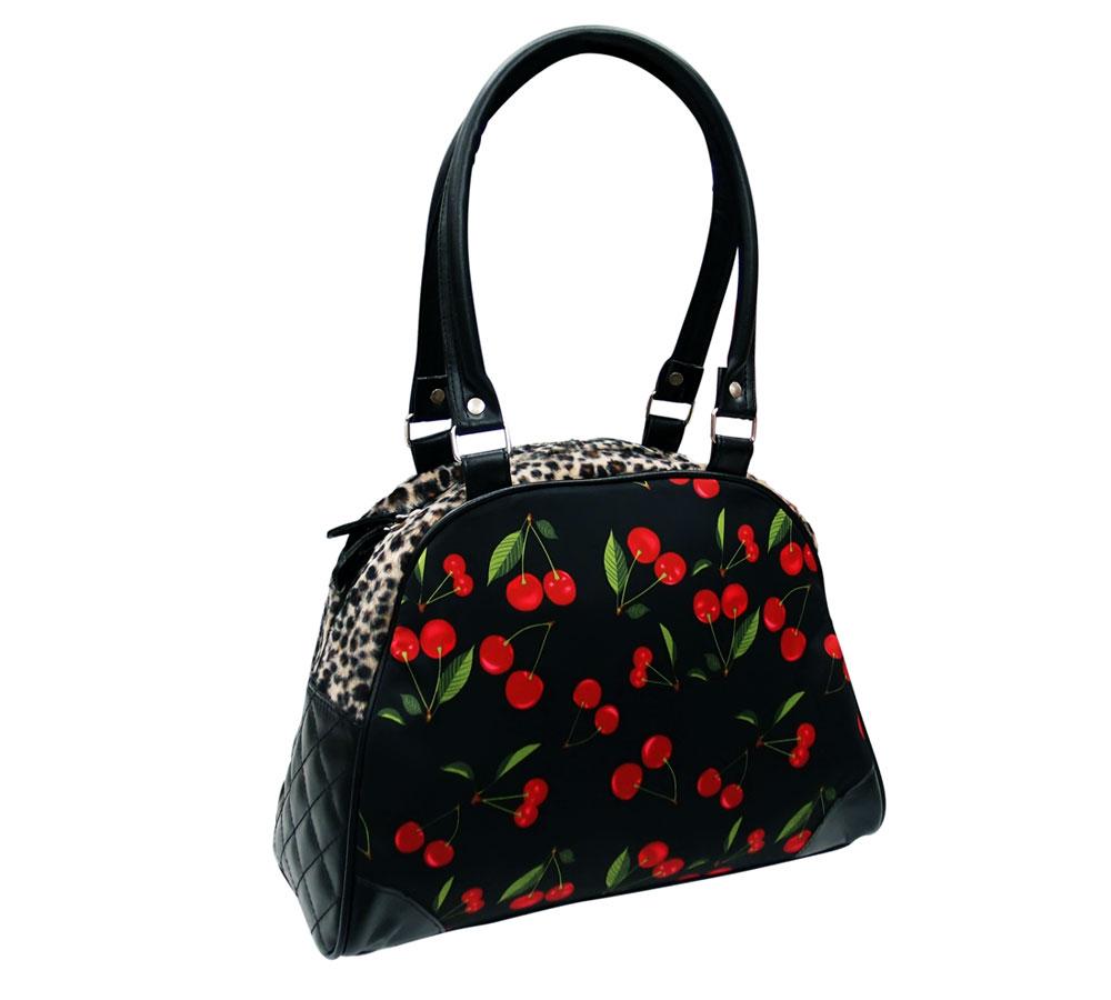 Liqour Brand Cherries & Leopard Handbag