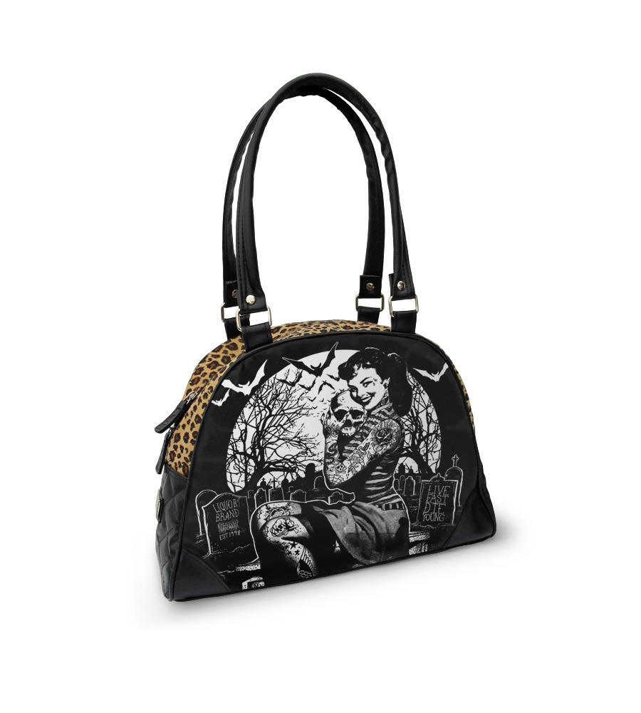 Liqour Brand Graveyard Girl Handbag