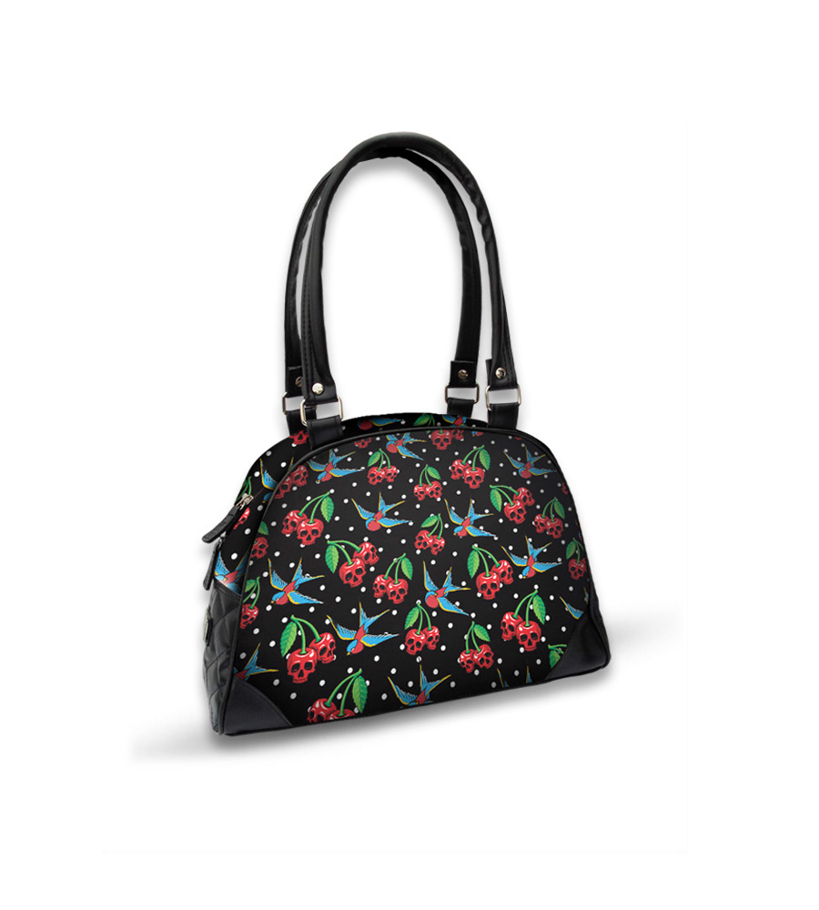 Skulls Cherries & Swallow Bird Bowling Bag