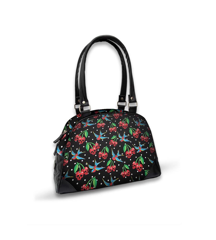 Skulls Cherries & Swallow Bird Bowling Bag