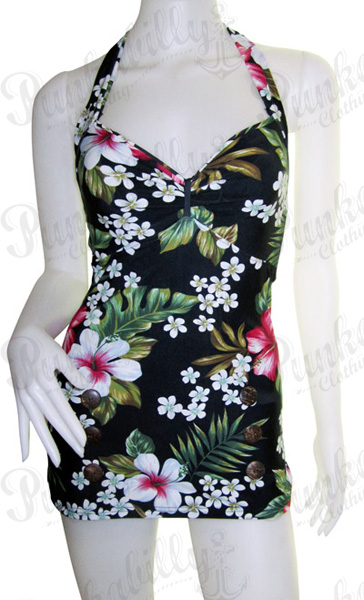 Hawaiian Vintage inspired Pin Up swimsuit