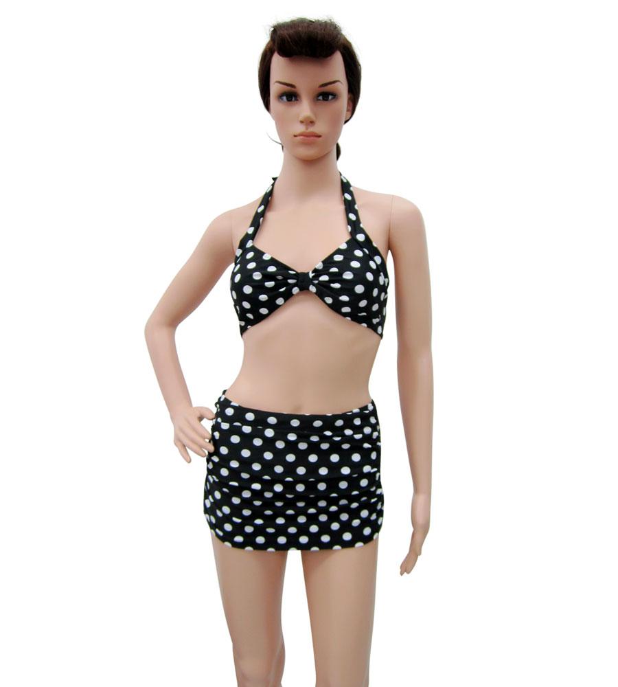 50's Style High Waist Polka dots Bikini