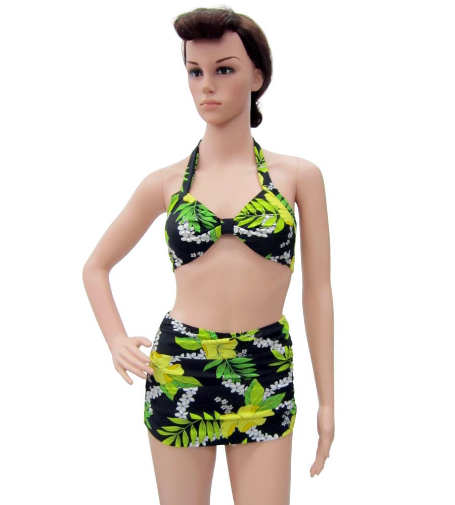 Hawaiian Flowers Halter Bikini
