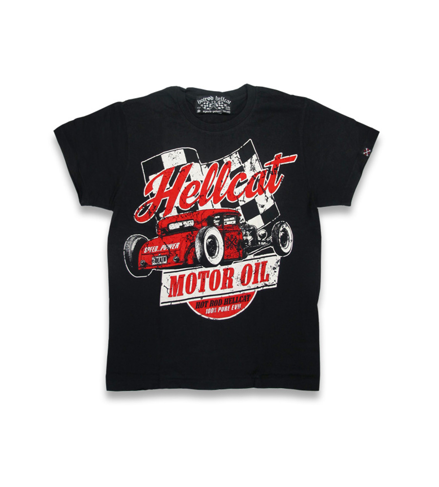 Hellcat Motor Oil rockabilly kid's shirt
